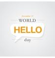 World hello day icon vector image