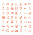 49 modern icons vector image vector image