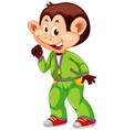 a monkey with sweatsuit vector image vector image