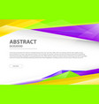 abstract background geometric modern business vector image vector image