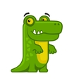 Alligator Cartoon Style Funny Animal on White vector image vector image