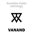 astrology astral planet vanand vector image vector image