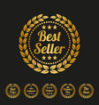 best seller label on black background vector image