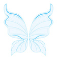 Blue fairy wings vector image vector image