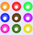 bomb icon sign Big set of colorful diverse vector image vector image