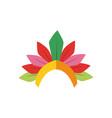 brazil garotas crown flat style icon design vector image vector image