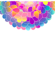 Bright color floral background vector image