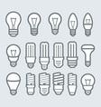 Bulb icon set vector image