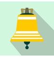 Church bell flat icon vector image vector image