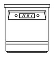 closed dishwasher icon outline style vector image