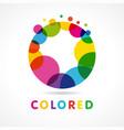 colored abstract circle o logo vector image vector image