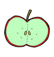 comic cartoon sliced apple vector image vector image