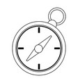 compass navigation symbol black and white vector image