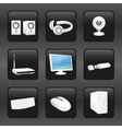 Computer and accessories icons vector image vector image