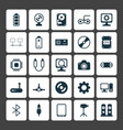 computer icons set collection of desktop computer vector image