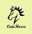 cute horse logo vector image vector image