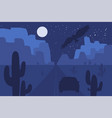 desert landscape scene with road vector image