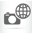 digital camera earth icon vector image vector image