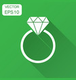 engagement ring with diamond icon in flat style vector image vector image