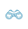 field-glasses linear icon concept field-glasses vector image