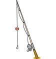 Fishing rod vector image vector image