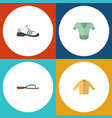 flat garment set of casual beach sandal banyan vector image