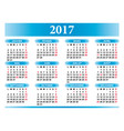 French calendar 2017 with festivities vector image