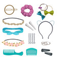 hair accessories woman stylish hair item clips vector image vector image