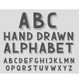 Hand drawn doodle sketch abc alphabet letters vector image vector image