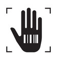 hand with barcode is a symbol conspiracy vector image