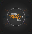 happy fathers day calligraphy vector image