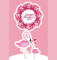 happy mothers day flamingo cartoon vector image