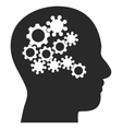 Human Mind Gears Eps Icon vector image