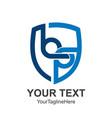 initial letter bq logo design template element vector image