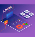 investment graph discount and payment card icons vector image vector image