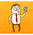 Iphone Man Cartoon vector image vector image
