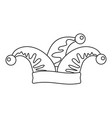 jester icon outline style vector image vector image