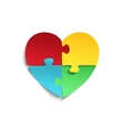 jigsaw puzzle pieces in form heart vector image