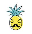 kawaii cute sleeping pineapple vegetable vector image vector image