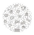 line art icon - arts entertainment vector image vector image