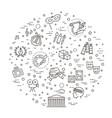 line art icon - arts entertainment vector image
