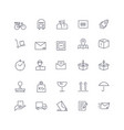 line icons set post service web pack vector image