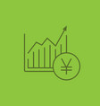 market growth chart color linear icon vector image vector image