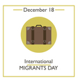 Migrants Day vector image vector image