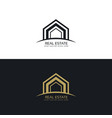 modern real estate business logo design concept vector image