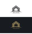 modern real estate business logo design concept vector image vector image