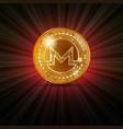 monero golden coin vector image vector image