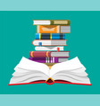 open book with an upside down pages vector image vector image