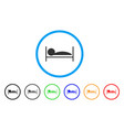 patient sleep rounded icon vector image