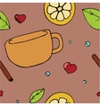Pattern with teacup vector image